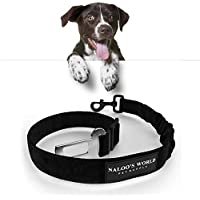 Hunde Sicherheitsgurt mit Ruckdämpfung | Elastisch verstellbarer Hundegurt | Universal passendes Gurtschloss + robuster Karabiner | Bissfester Autosicherheitsgurt | Schutz Autogurt für Tiere