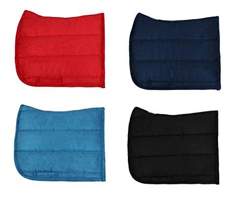 Schabracke Sattelunterlage Satteldecke QHP Wildleder 4 Farben Farbe schwarz