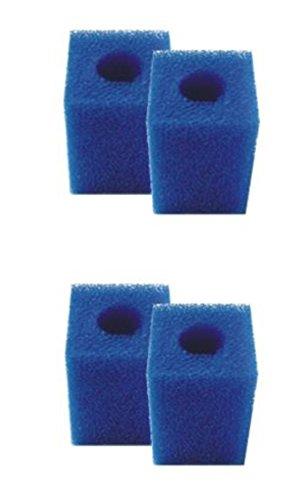 4 St. Filterschwamm, Filterpatrone für Innenfilter z.B. Eheim pickup 60 geliefert werden weisse oder blaue Schwämme