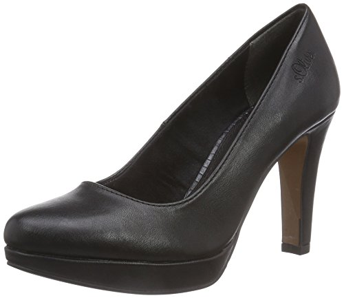 s.Oliver 22400, Damen  Pumps, Schwarz (Black Nappa 22), 38 EU (5 Damen UK)