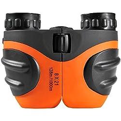 Fa _ valley caucho 8x 21ajustable ligero Mini prismáticos para niños, mejores regalos de Navidad para los niños