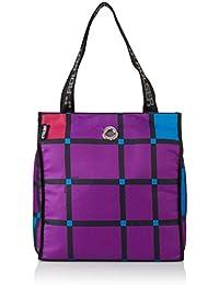 Rolser bolso de playa Shopping Bag Cuadro, 38 cm,  morado – morado, SHB017 CUADRO