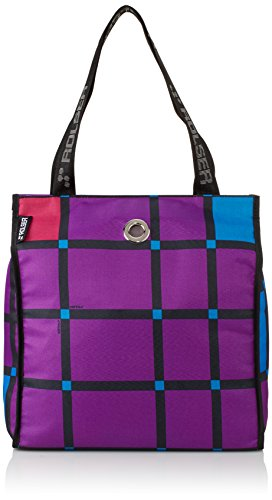 Rolser Shopping Bag Cuadro, Lila, 36 x 15 x 38 cm, 20.5 Liter, SHB017