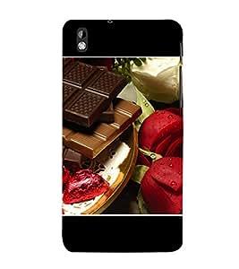 PrintVisa Choclates 3D Hard Polycarbonate Designer Back Case Cover for HTC Desire 816 :: HTC Desire 816 Dual Sim :: HTC Desire 816G Dual Sim
