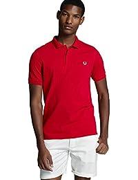 Fred Perry Polo Slim Fit Hombre Rojo - Talla M