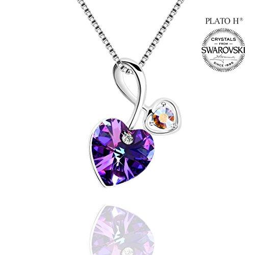 plato-h-damen-kette-mit-herz-anhanger-kristall-venedig-liebe-swarovski-kristall-lila-herzen-halskett