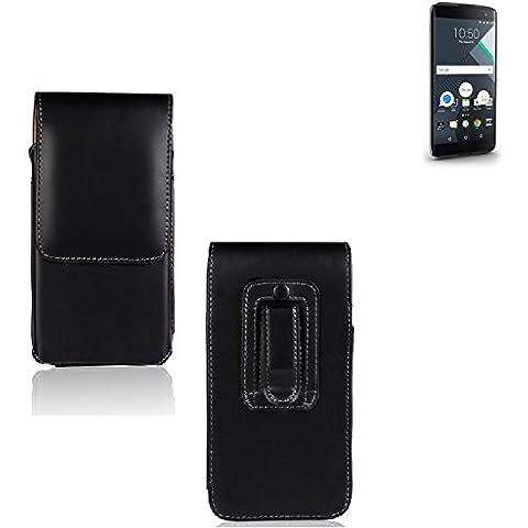Marsupio per Blackberry DTEK60, di alta qualità custodia in pelle sintetica di colore nero   pianura semplice eleganza funzionale. Cassa del telefono mobile della copertura della cassa sacchetto trasversale tasca Clip di trasporto verticale Cover Bag