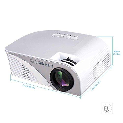 Junecat Rigal RD805B Mini-LED-Projektor-bewegliche 800 * 480 Beamer Projektor TV/Spiel Heimkino-Projektor mit Eingang HD/VGA/USB/AV