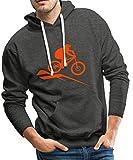 Spreadshirt Mountainbike MTB Downhill Fahrrad Männer Premium Hoodie, M, Anthrazit