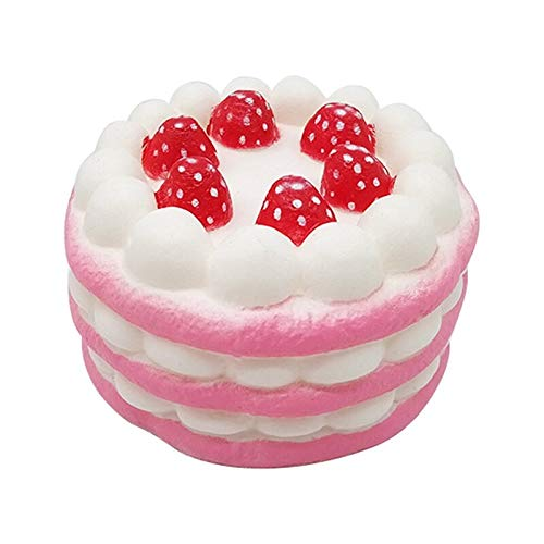 Timothy Gags & Practical Jokes . - Squishy Antistress squishe Strawberry Cake Funs Novelty Gag Toys Stress Relief gags Practical Jokes Anti-Stress Popular Surprise - by 1 PCs