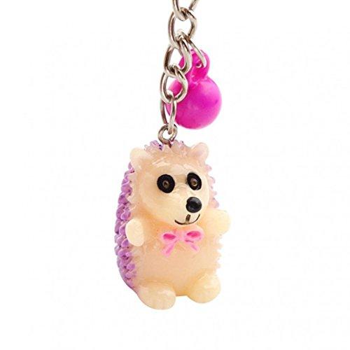 uesten Frauen süßes Igel Ball Auto Schlüsselanhänger Ring Tasche zum Aufhängen Ornament Anhänger Zufällige Farbauswahl ()