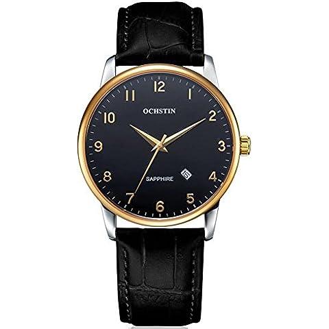 Orologio OCHSTIN Men 's di cuoio di modo cinghia impermeabile al quarzo uomini semplici svizzeri' s Watches ,