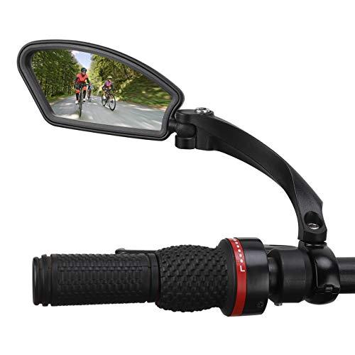 wishing Fahrradspiegel, Rückspiegel Lenkerspiegel Blind Spot Spiegel für Fahrrad E-Bike Mountainbikes Rennrad (Links Fahrradspiegel)