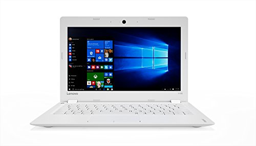 Lenovo Ideapad 110S-11IBR Portatile con Display da 11.6' HD, Processore Intel Celeron N3160, RAM 2 GB, 32 GB eMMC, Scheda Grafica Integrata, S.O. Windows 10 Home, Bianco, Tastiera Italiana