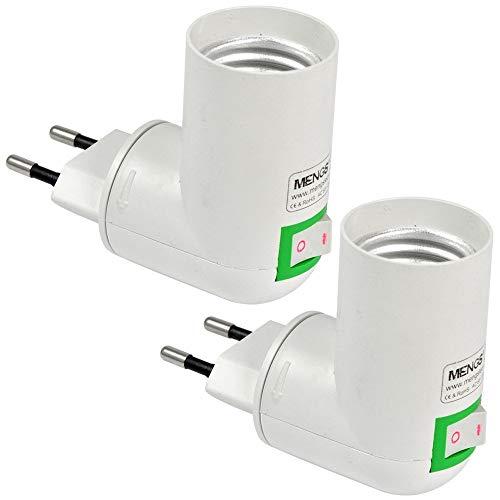 MENGS 2 Stück Qualität PP auf E27 Lampenfassung Konverter-Adapter Mit Hohe Temperaturbeständigkeit ABS-Material