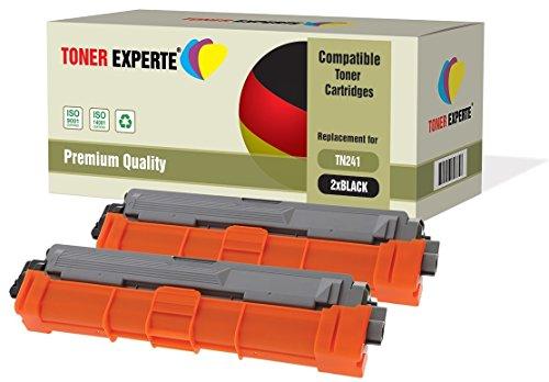 Preisvergleich Produktbild 2er Pack TONER EXPERTE® Schwarz Premium Toner kompatibel zu TN-241BK TN241 für Brother DCP-9015CDW, DCP-9020CDW, MFC-9140CDN, MFC-9330CDW, MFC-9340CDW, HL-3140CW, HL-3142CW, HL-3150CDW, HL-3152CDW, HL-3170CDW, HL-3172CDW, MFC-9130CW