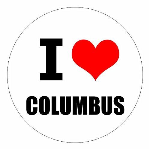 I love Columbus Ohio in 2 Größen erhältlich Aufkleber mehrfarbig Sticker Decal