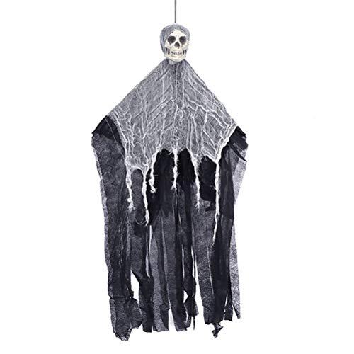Amosfun 2pcs Halloween hängende Ghost Scary Horror Skeleton Skull Prop Party Dekoration (Halloween Schreit Scary)