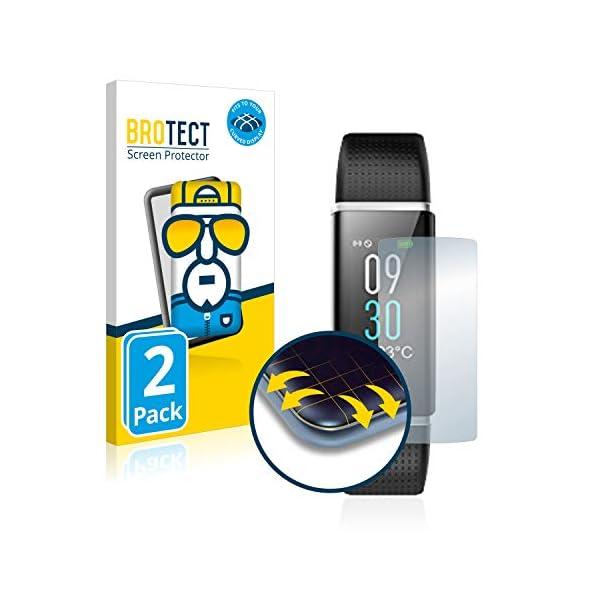 BROTECT Protector Pantalla Completa Compatible con Willful Fitness Tracker SW352 (2 Unidades) 3D Curvo 1