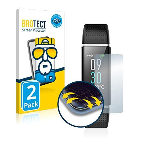 BROTECT Full-Cover Schutzfolie kompatibel mit Willful Fitness Tracker SW352 (2 Stück) - Full-Screen Displayschutz-Folie, 3D Curved, Kristall-Klar