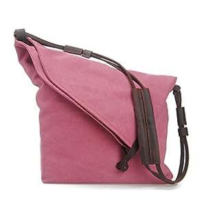 Estarer Damentasche Canvas Damen Umhängetasche Schultertasche Messenger Tasche Rosa