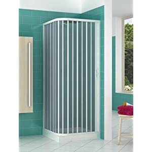 Cabina de ducha de PVC extensible con dos lados dos puertas lado 80/100