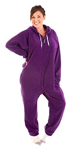 Forever Lazy non-footed Unisex adulto Onesie Purple