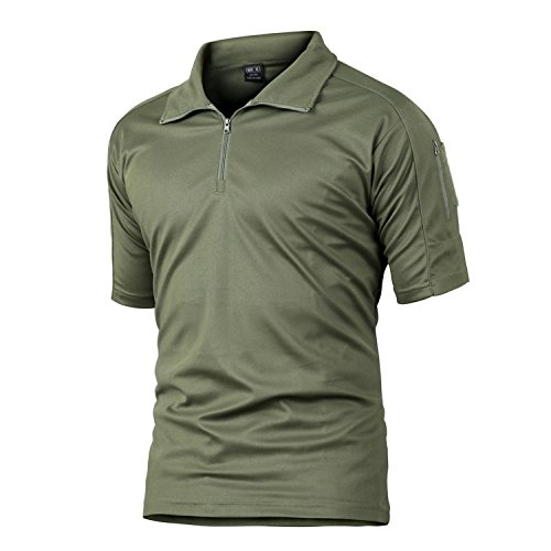 748263a01c6d4 TACVASEN Outdoor T Shirt Mens Camping Hiking T-Shirt Fishing Quick Dry Tee  Top Army