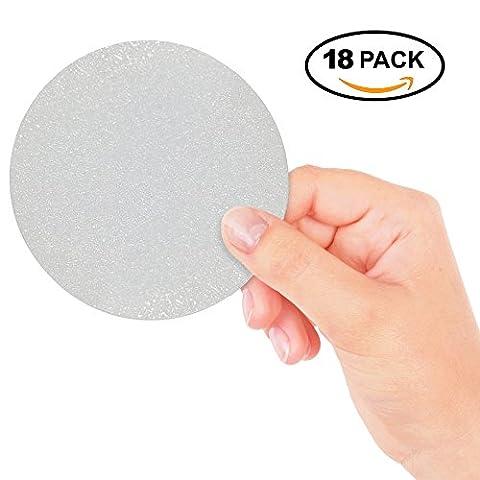 18 große runde Anti Rutsch Sticker in transparent für Sicherheit in Badewanne und Dusche – Bessere Bodenhaftung und Oberflächen Widerstand