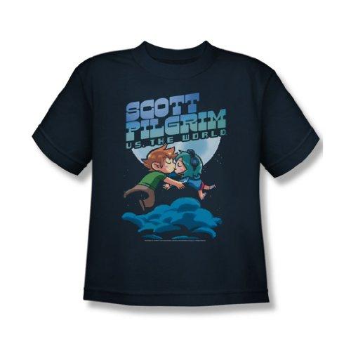 Jugend-navy S/s T-shirt (Scott Pilgrim - Jugend-Liebhaber-T-Shirt, Small, Navy)