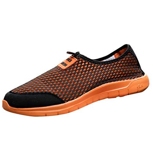 friendGG Paar Mesh Stoff Slip-On Sneakers Freizeit Leichte Atmungsaktive Schuhe Freizeitschuhe Turnschuhe Sommer Mode Laufende Laufschuhe Fitness StraßEnlaufschuhe rutschfeste Sportschuhe