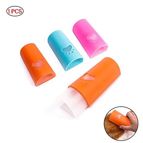 (Hund Shampoo Bad Pinsel Rubber Pflege Pinsel und Pet Bürste für die Fellpflege Haustier Baden Werkzeug für Hunde - Bogenform (zufällige Farbe))