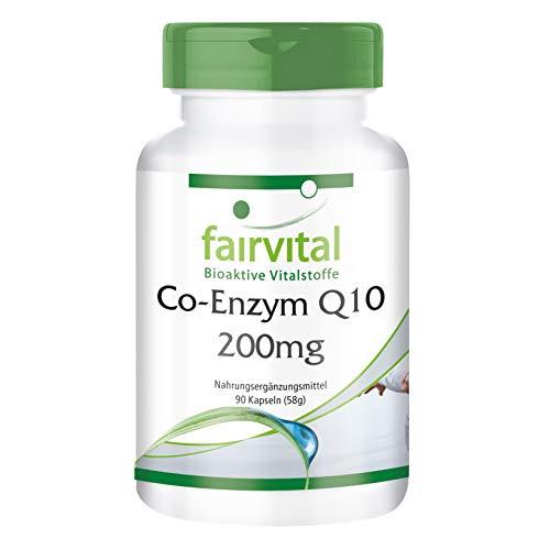 Co-Enzym Q10 200mg - GROSSPACKUNG für 3 Monate - VEGAN - HOCHDOSIERT - 90 Kapseln - Ubichinon