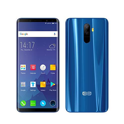 Smartphone Android 8.0 4G Elephone U Pro Ohne Vertrag Entsperrt (Bildschirm: 5,99 Zoll - 6 GB RAM + 128 GB - Dual SIM) Identifizierung Von Face Detector Und Fingerabdrücken 4G Telefonie(Blau, U Pro)