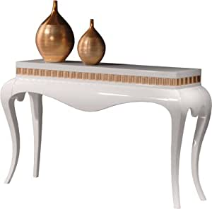 Console Barocco galbée blanche