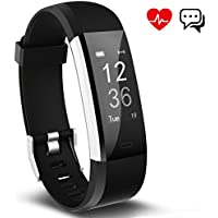 Fitness Tracker, Aneken Activity Tracker Impermeabile IP67 Bluetooth 4.0 con Cardiofrequenzimetro da Polso Monitoraggio del Sonno Notifiche Chiamate e SMS per iOS e Android