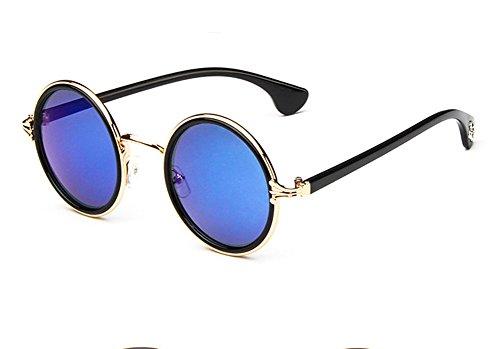 Skyeye Vintage Sonnenbrille polarisiert Sport Sonnenbrille für Herren und Damen Design für Ski Baseball Golf Radfahren Angeln Laufen Fahren Gold superleichter Rahmen blau Objektive