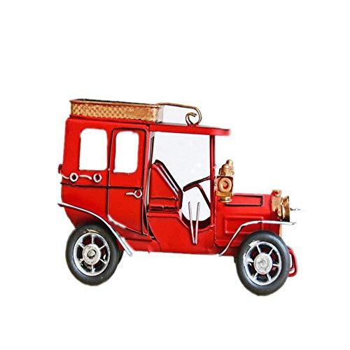 1949shop Metall Zinn Handwerk Retro Auto Möbel Hause Tischdekoration Miniatur Kinder Spielzeug Geburtstage Geschenke Cube Oldtimer Ornamente - Weiß (Autos Tischdekoration)
