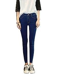 Pantalons Femme Denim Printemps Jeans Slim Taille Haute Leggings Collant Crayon Déchirés