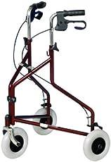 Ability Superstore - 3-Rad Rollator, burgunderrot