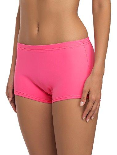 Merry Style Damen Badeshorts Bikinihose Modell L23L1 (Rosa (3159), 42)