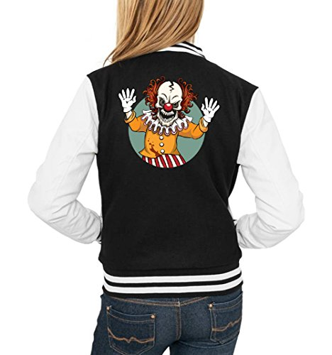 Evil Clown College Vest Girls Black Certified Freak-XL (Lustige College Boy Kostüme)