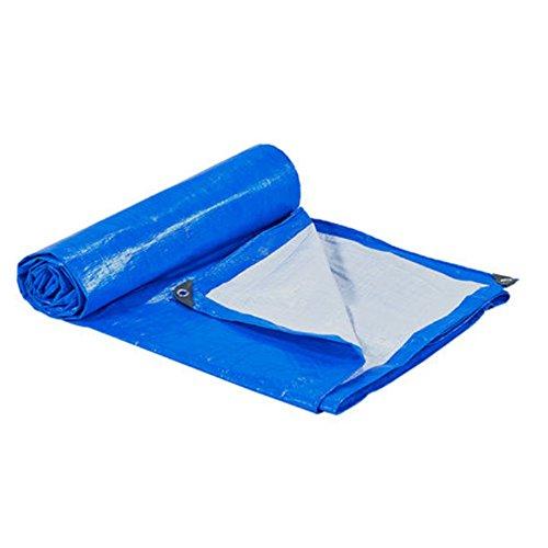 NYDZ Lona Lona Resistente al Agua impermeabilizada Azul/Blanca de Tarpaulin - Cubierta Superior...
