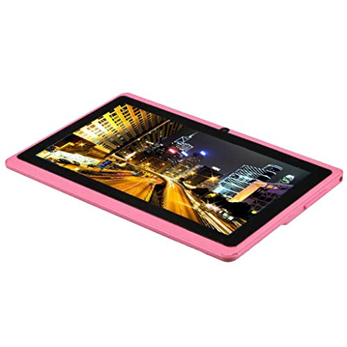 Bovake 7' Google Android 4.4 KitKat Quad Core Tablet PC 8 GB Dual Kamera Wifi Bluetooth (Pink)