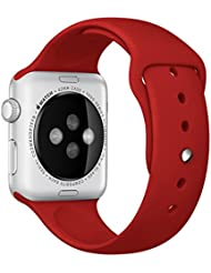 For Apple Watch 42mm, Ouneed ®Pulsera de silicona se divierte la venda de la correa de reloj de 42 mm para Apple (rojo)