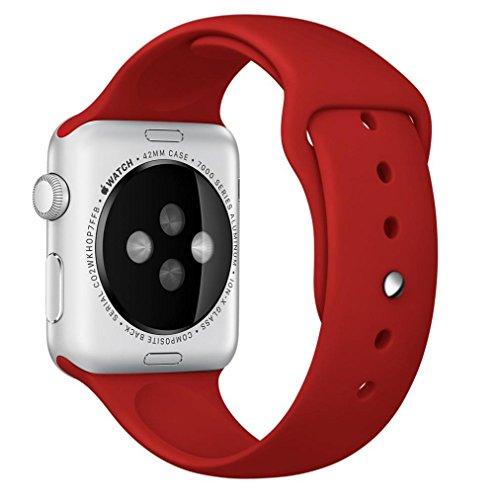 For Apple Watch 42mm, Ouneed ®Pulsera de silicona se divierte la venda de la correa de reloj de 42 mm para Apple (rojo)