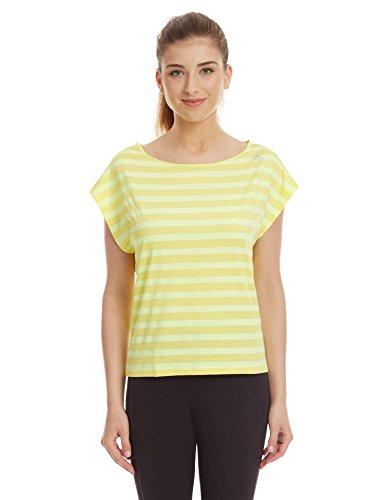 adidas Women's Plain Sports T-Shirt (S17832_Light Yellow and Light Flash Yellow _36)