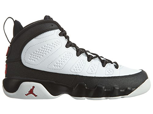 Nike 302359-112, espadrilles de basket-ball garçon white, true red-black