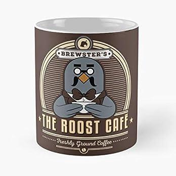 Animal Crossing Brewster Roost Cafe Caf Geek Gaming Gamer Nerd – Best 11 Ounce Ceramic Coffee Mug Gift