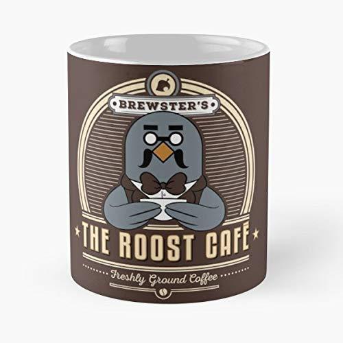 Animal Crossing Brewster Roost Cafe Caf Geek Gaming Gamer Nerd - Best 11 Ounce Ceramic Coffee Mug Gift Caf ? Cup